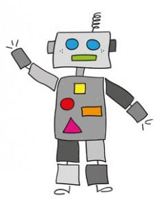 Робот маха с ръка