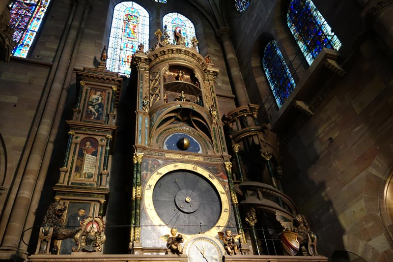 The astronomical clock in the cathedral in Strasbourg