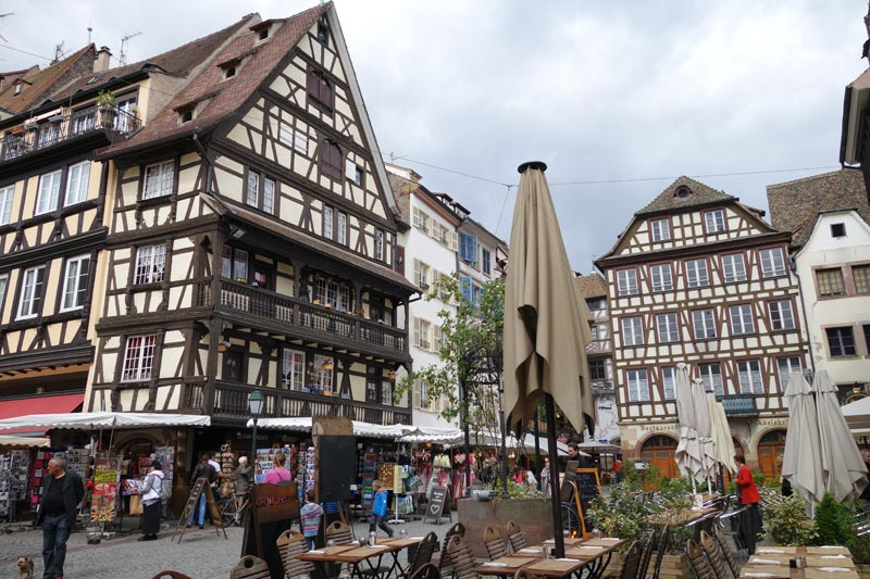 The old city center in Strasbourg