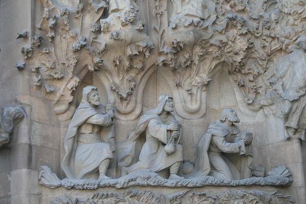 La Sagrada Familia, detail